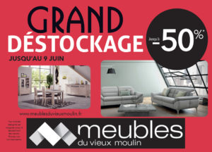 Offre destockage au Meubles du Vieux Moulin près de Cholet