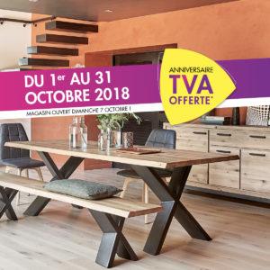 TVA offerte aux Meubles du vieux Moulin à Mauléon